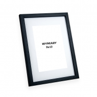 Ramka na zdjęcie Czarna z passe-partout - PiniaPAS2, 13x18 cm