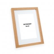Ramka na zdjęcie Dębowa z passe-partout - PiniaPAS00, 13x18 cm