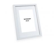 Ramka na zdjęcie Biała z passe-partout - PiniaPAS1, 13x18 cm
