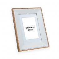 Ramka na zdjęcie Biało-beżowa - DRZ X 1, 10x15 cm