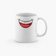 Kubek, z uśmiechem