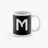 Kubek, Typograficzny czarny - M