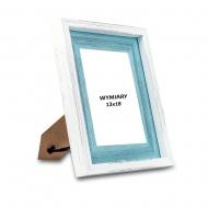 Ramka na zdjęcie Biało-niebieska - RD313, 13x18 cm
