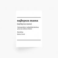 Plakat, Słownik - Najlepsza mama, 30x40 cm