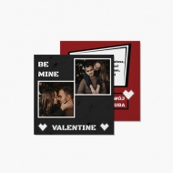 Fotokartki Be mine Valentine, 14x14 cm