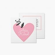 Fotokartki Walentynka z Pandą, 14x14 cm