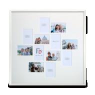 Ramka na zdjęcie 12 zdjęć biała 70x70 cm, 70x70 cm