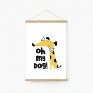 Obraz na sznurku, My dog, 20x30 cm