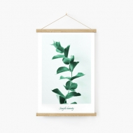 Obraz na sznurku, Listki, 20x30 cm