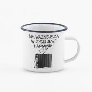 Kubek, Kolekcja Ptaszek Staszek - Harmonia - kubek emaliowany