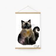 Obraz na sznurku, Cat, 20x30 cm
