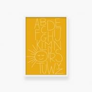 Plakat w ramce, Alfabet - lastryko - biała ramka, 20x30 cm