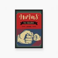 Plakat w ramce, Awans na dziadka - czarna ramka, 20x30 cm