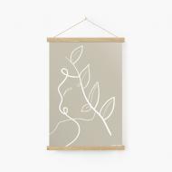 Obraz na sznurku, Kolekcja Grafikk Jasikk - Równowaga beż, 20x30 cm