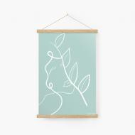 Obraz na sznurku, Kolekcja Grafikk Jasikk - Równowaga błękit, 20x30 cm