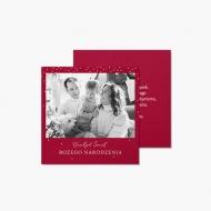 Fotokartki Christmas in red, 14x14 cm