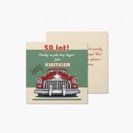 Fotokartki 50te urodziny, 14x14 cm