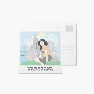 Fotokartki Pocztówka - Rysunek Warszawa, 14x14 cm