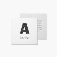 Fotokartki Twoja litera, 14x14 cm