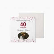 Fotokartki Z okazji 40. rocznicy ślubu, 14x14 cm