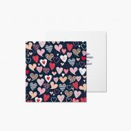 Fotokartki Kartka  Walentynkowa Granatowa, 14x14 cm