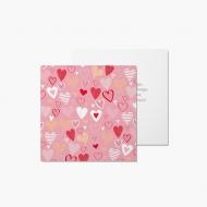 Fotokartki Kartka Walentynkowa Różowa, 14x14 cm