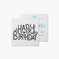 Fotokartki Kolorowe Happy Birthday, 14x14 cm