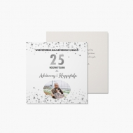 Fotokartki Z okazji 25. rocznicy ślubu, 14x14 cm