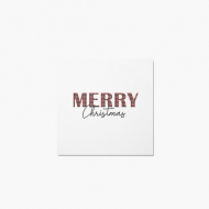 Fotokartki Merry Christmas, 14x14 cm