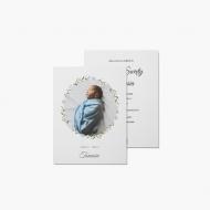 Zaproszenia Chrzciny - Pastelowe, 15x20 cm