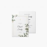 Zaproszenia Chrzciny - Roślinne, 15x20 cm