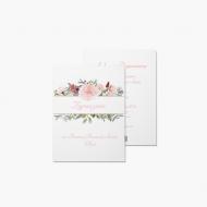 Zaproszenia Kwiatowa Komunia, 15x20 cm