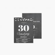 Zaproszenia Urodzinowe - Girlanda, 15x20 cm