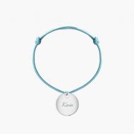 Bransoletka sznurkowa Koło sznurek posrebrzana , niebieski