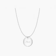 Naszyjnik z zawieszką Naszyjnik koło, srebrny