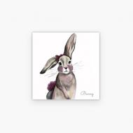 Plakat, Bunny, 30x30 cm