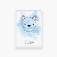 Plakat w ramce, Kot, 20x30 cm