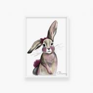 Plakat w ramce, Bunny- biała ramka, 20x30 cm