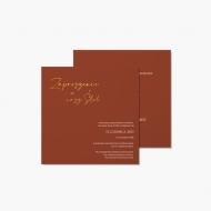 Zaproszenia Boho - klasyczne zaproszenie, 14x14 cm