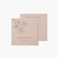 Zaproszenia Minimalistyczne - Kwiat, 14x14 cm