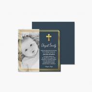 Zaproszenia Na Chrzest złote, 14x14 cm