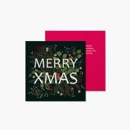 Fotokartki Merry Xmas, 14x14 cm