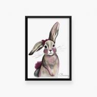 Plakat w ramce, Bunny- czara ramka, 20x30 cm