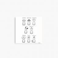 Magnes Kolekcja Kura rysuje - Katalog fryzur, 9x9 cm