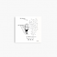 Magnes Kolekcja Kura rysuje - Komary, 9x9 cm