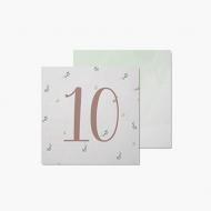 Fotokartki 10 miesiąc - Pierwszy roczek, 14x14 cm