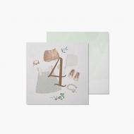 Fotokartki 4 miesiąc - Pierwszy roczek, 14x14 cm