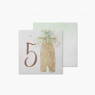 Fotokartki 5 miesiąc - Pierwszy roczek, 14x14 cm