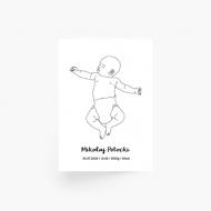Plakat, Plakat Baby, 40x60 cm