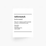 Plakat, Słownik - Informatyk , 30x40 cm